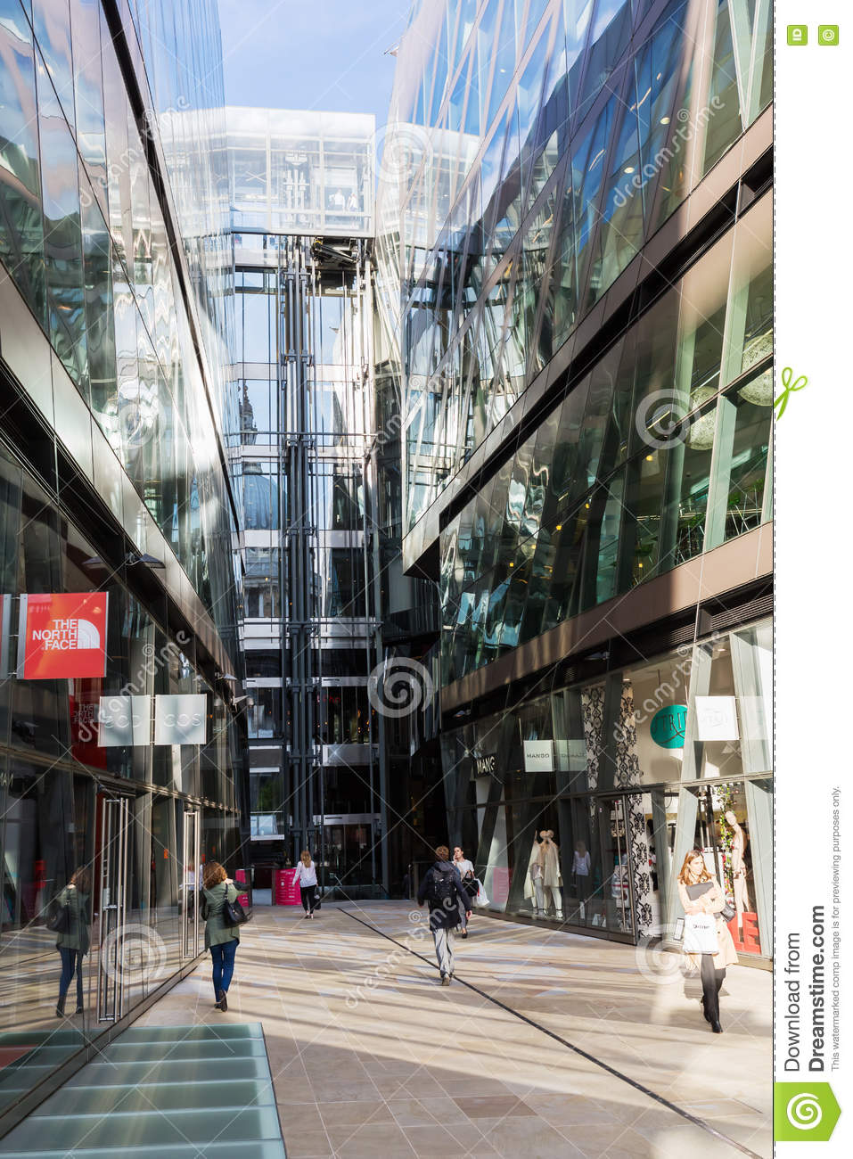 One New Change Shopping Mall In London, UK Editorial Image - Image of city,  great: 75688800