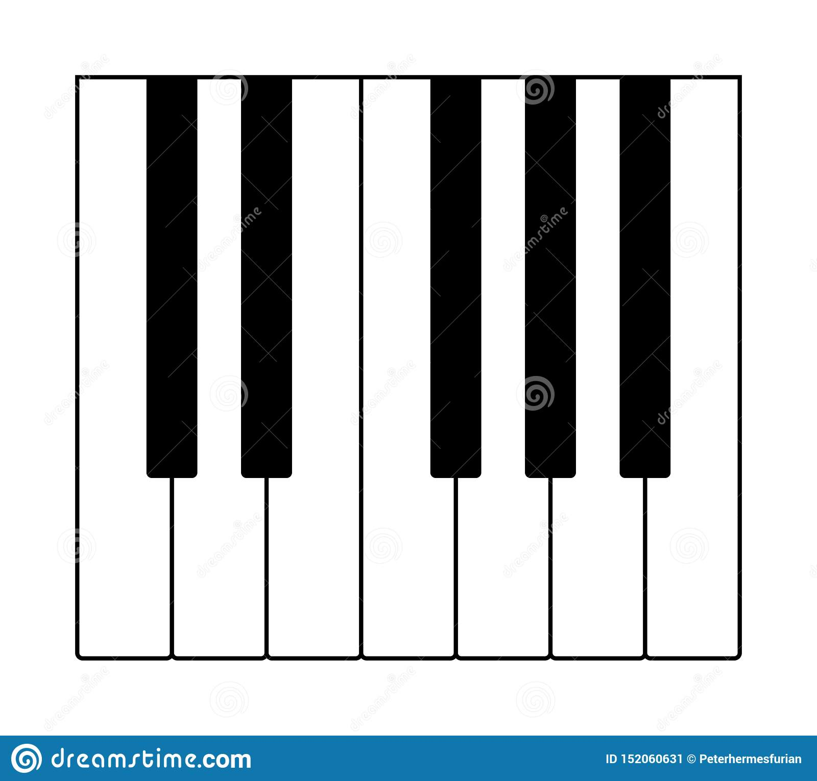One octave on a musical keyboard