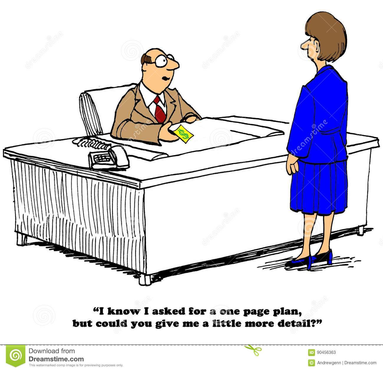 One Page Plan Stock Illustration. Illustration Of Concise