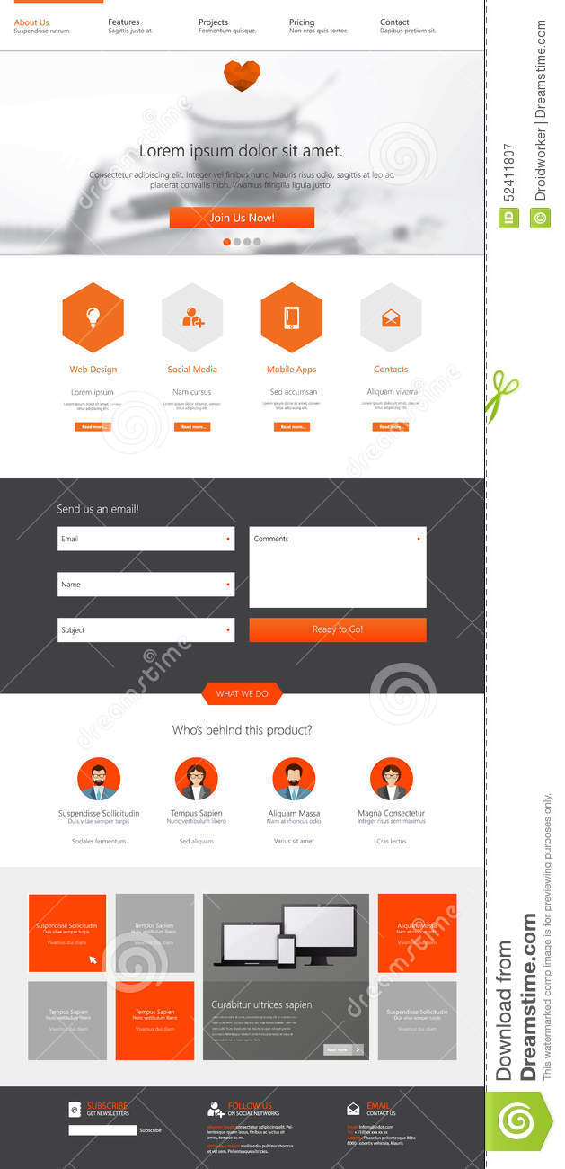One Page Site Template. 10 one page website templates free ...