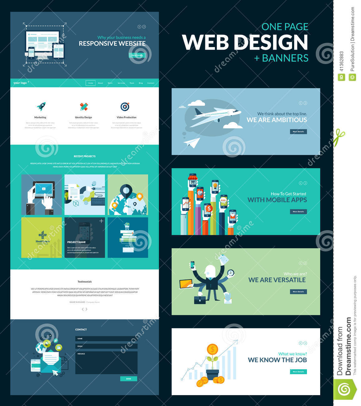 Free single page website template html5 70 best one page website.