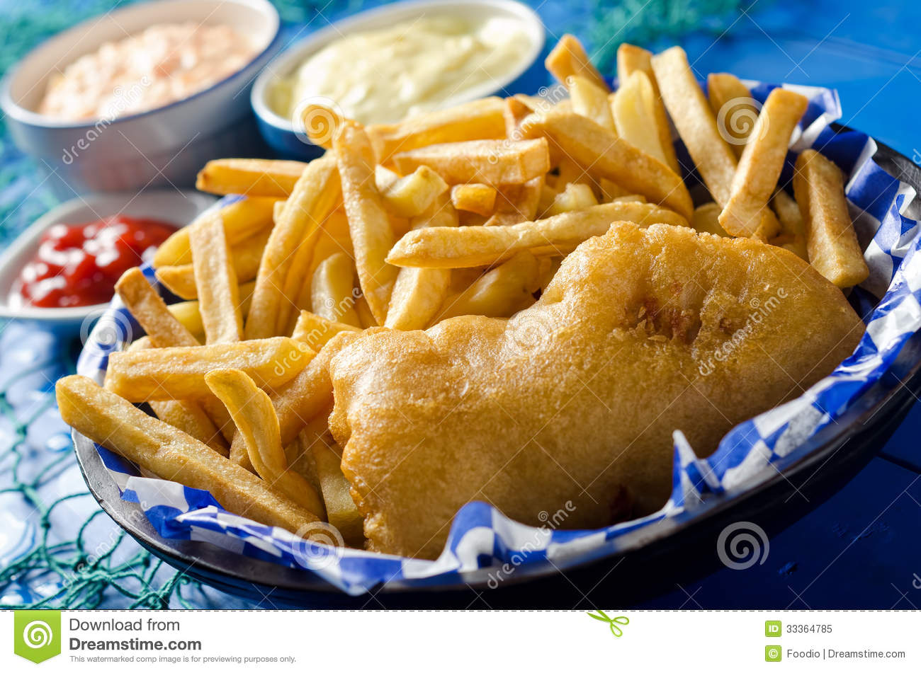 One Piece Fish And Chips Royalty Free Stock Photo - Image: 33364785