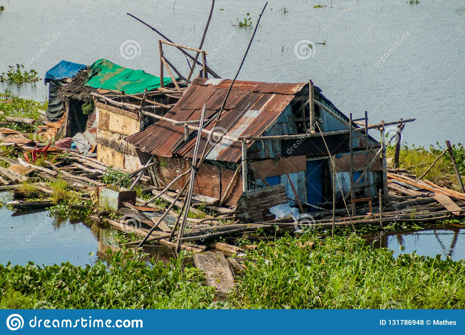 One of poor houses of a shantytown in Iquitos