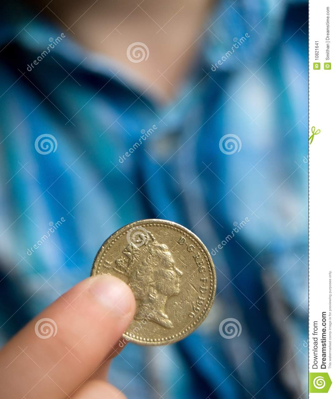 one pound coin stock image image of gold close writing 10821641