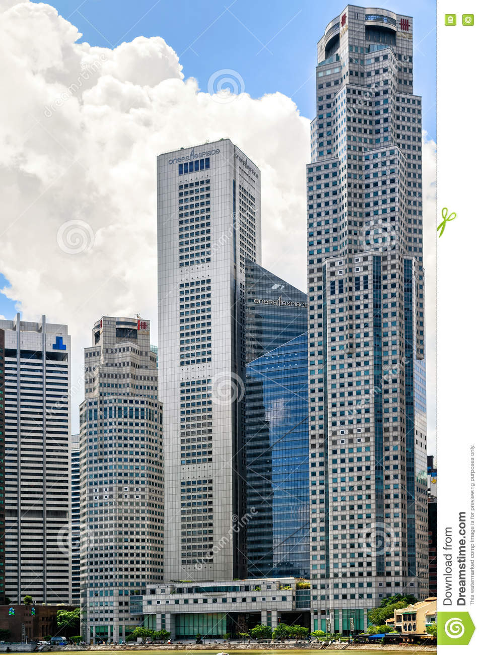 One raffles place and uob plaza building in singapore skyline download comp reheart Images