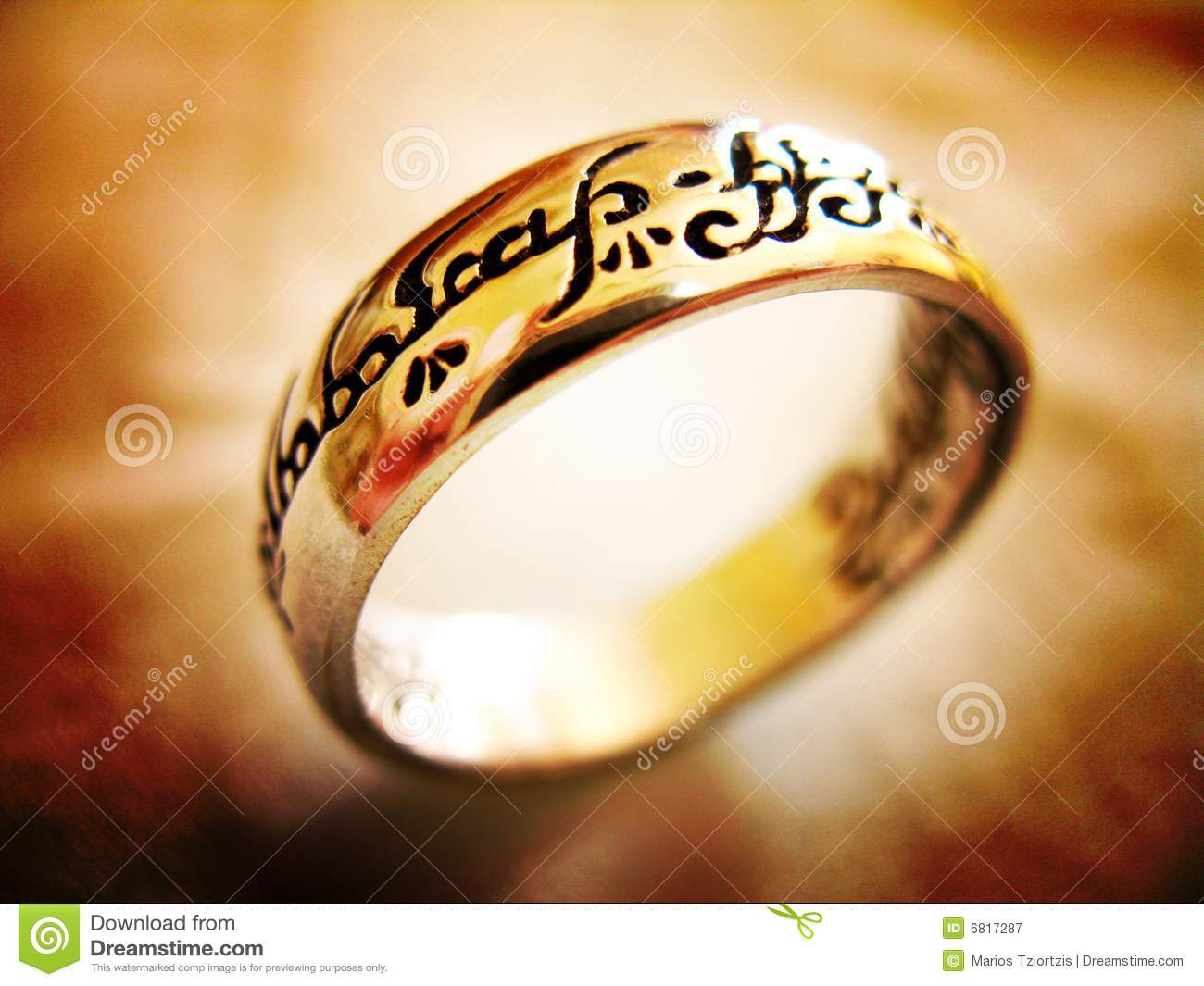 One ring to rule them all stock image  Image of rings - 6817287