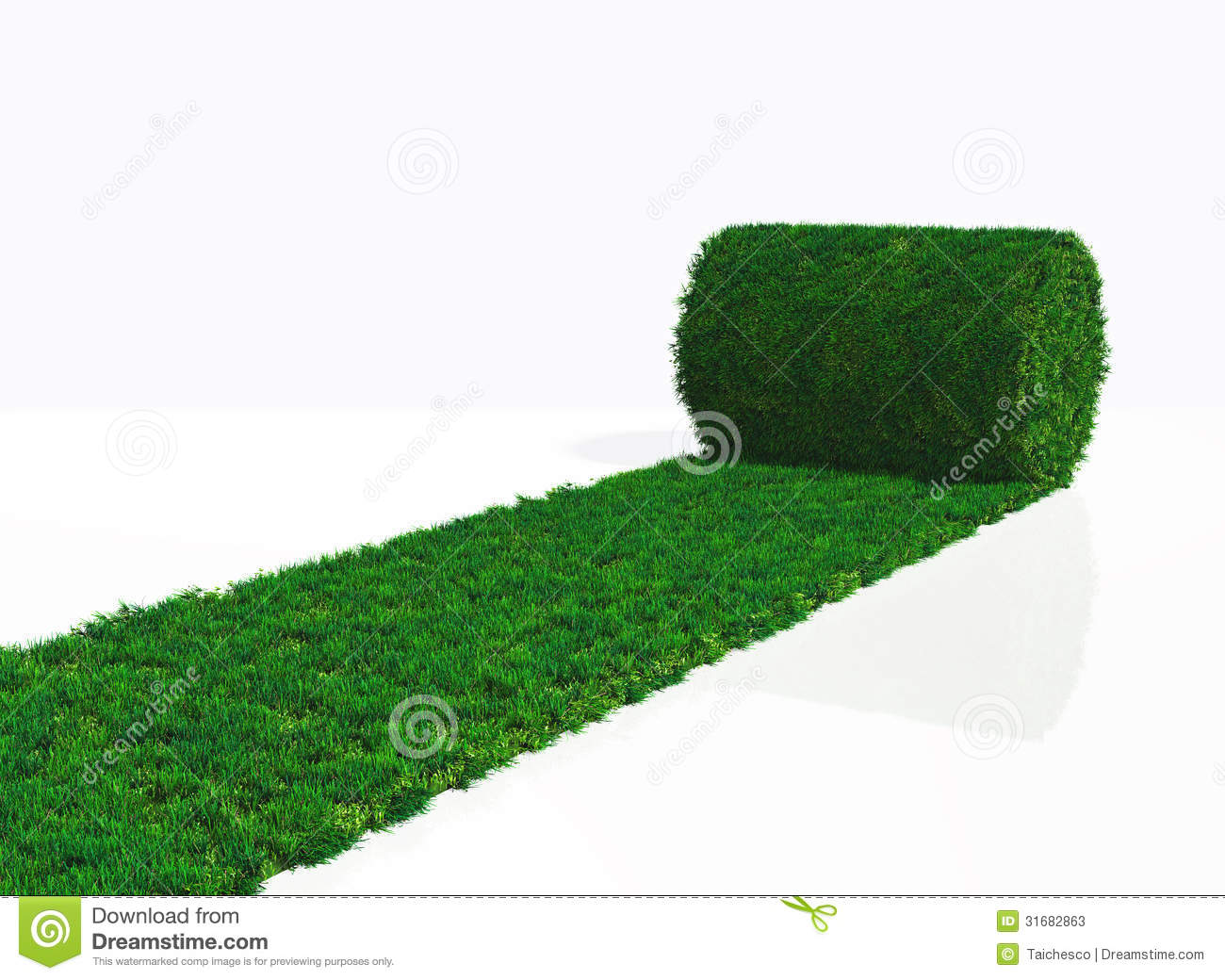 One Roll Of Grass Carpet Stock Illustration Image Of