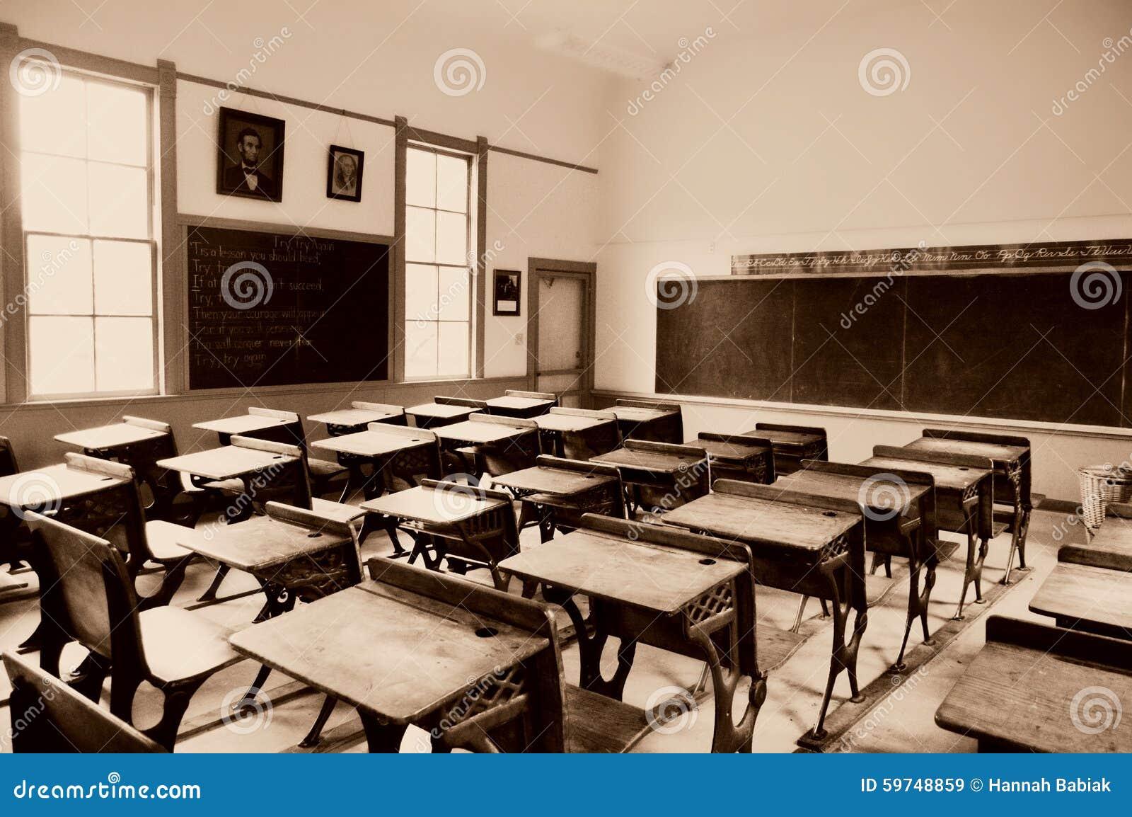Chalk Board One Room School