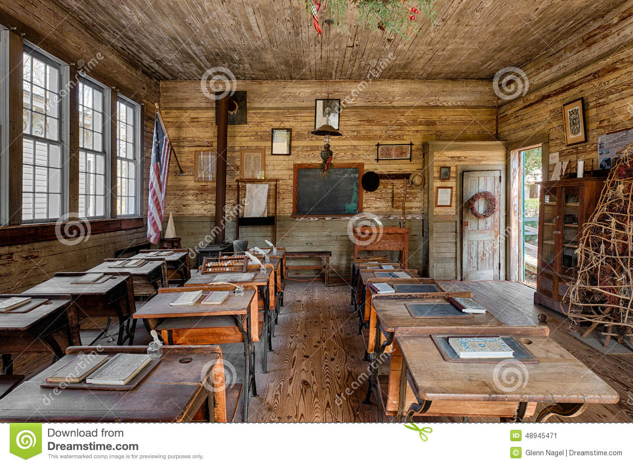 One Room Schoolhouse Editorial Photo Image Of Classroom 48945471