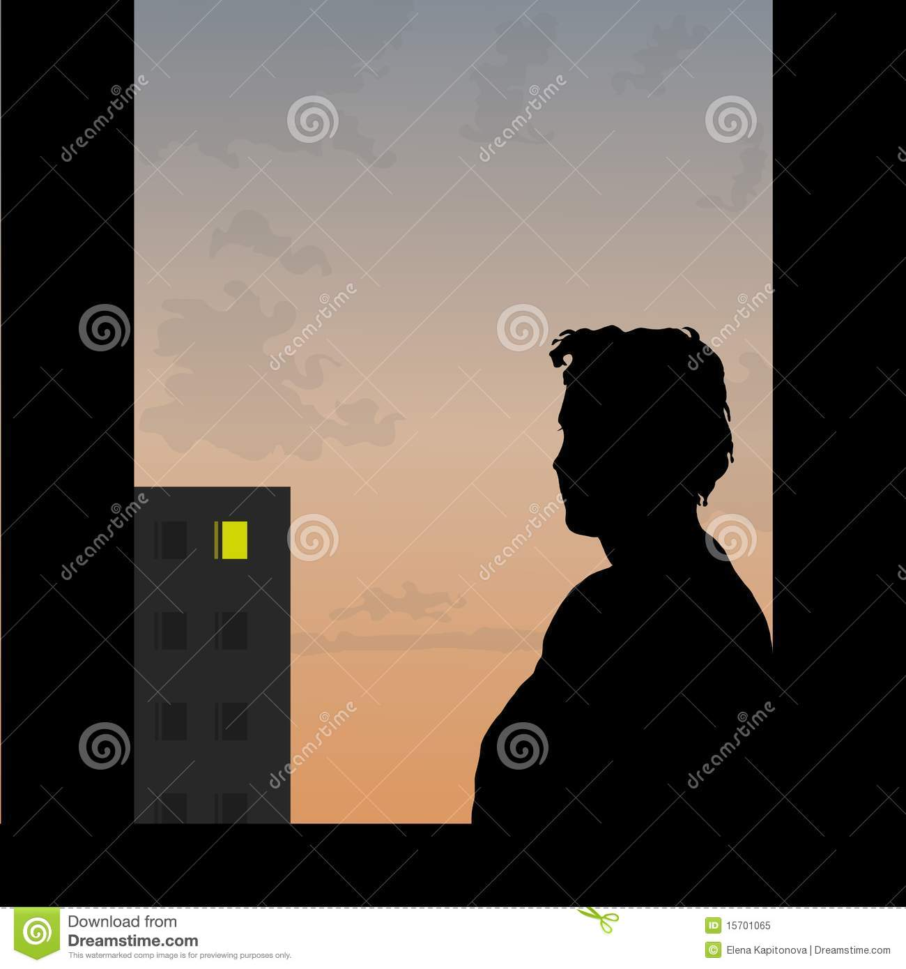One sad love story stock vector  Illustration of decline - 15701065