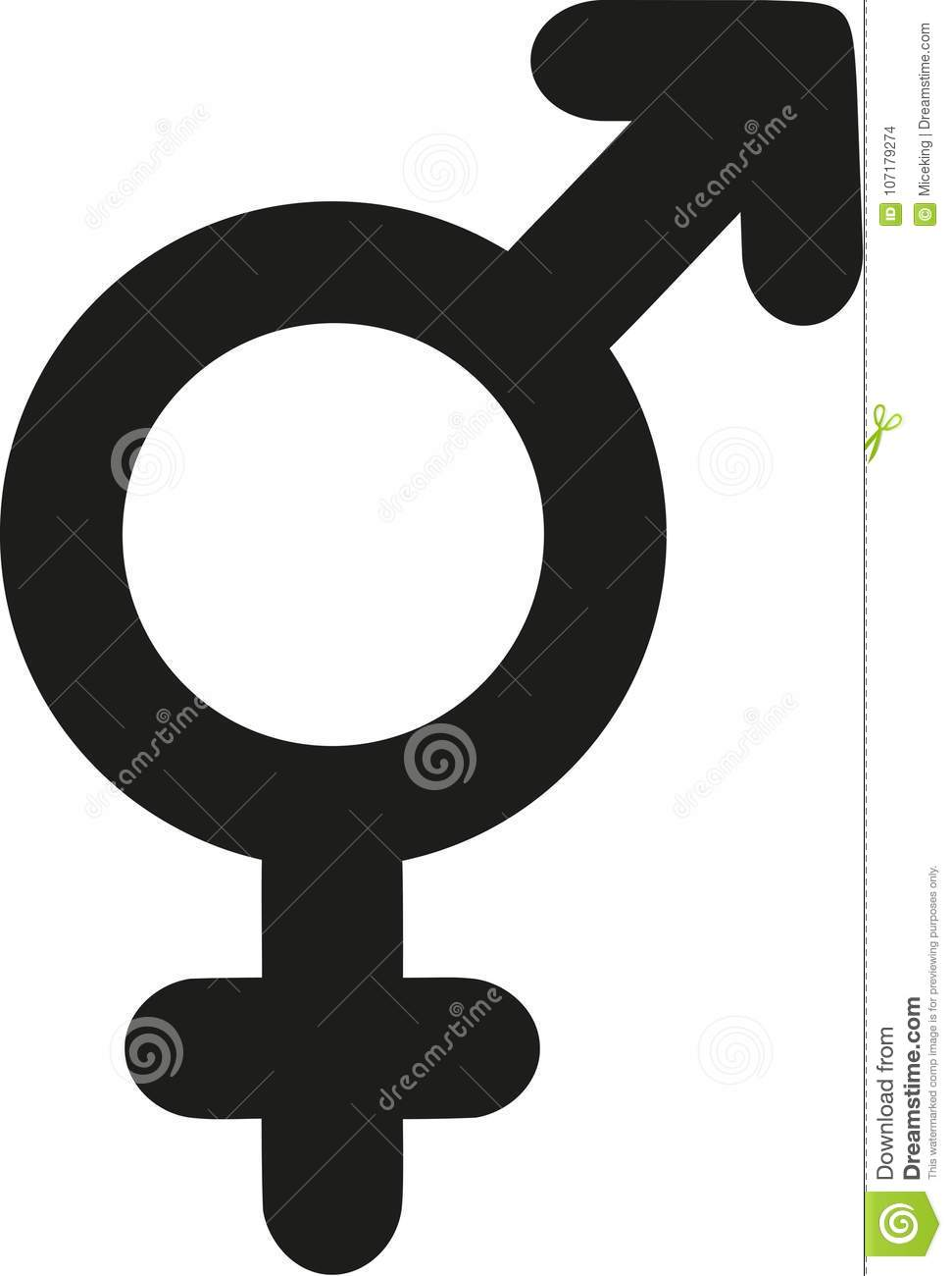 One Sex Gender Symbol Male Female Icon Stock Vector Illustration