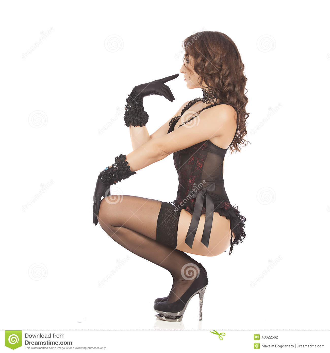 Download One Burlesque Dancer Woman Stripper Showgirl Stock Photo Image Of Fashion Burlesque