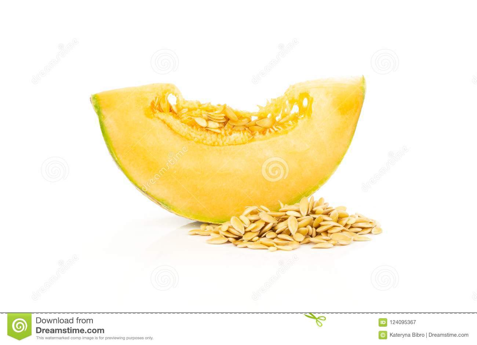 Fresh melon cantaloupe isolated on white