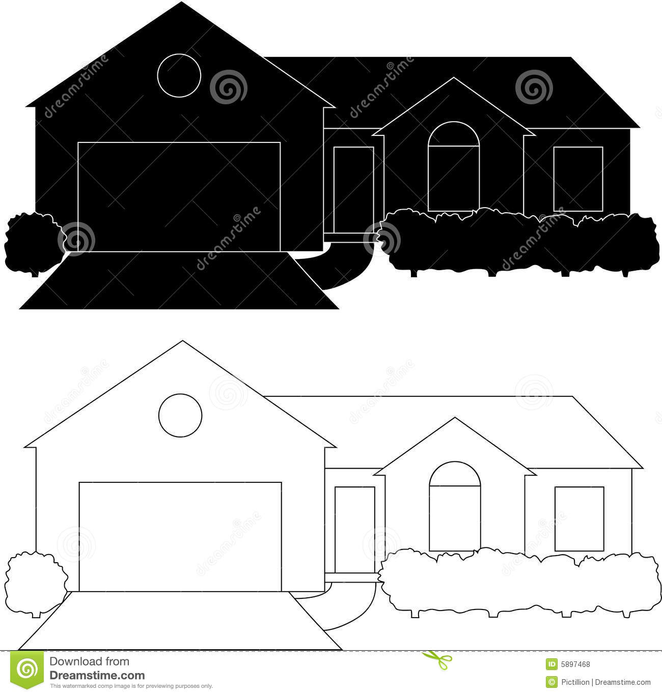 One Story House Royalty Free Stock Photos Image 5897468