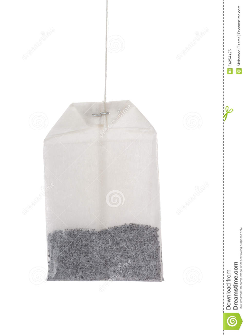 One Teabag Hanging Stock Photo - Image: 54254475
