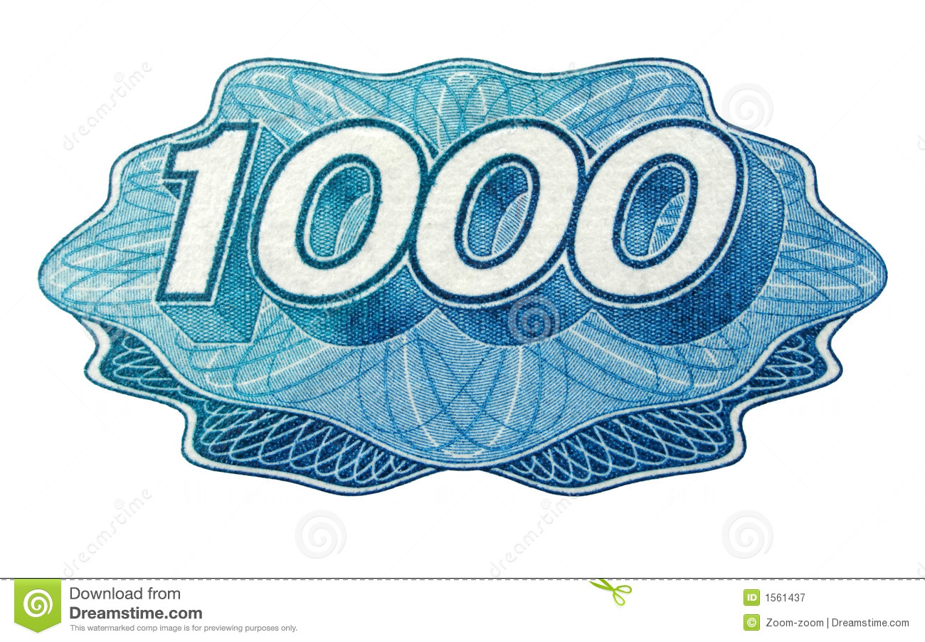 One Thousand Number Royalty Free Stock Photography - Image ...