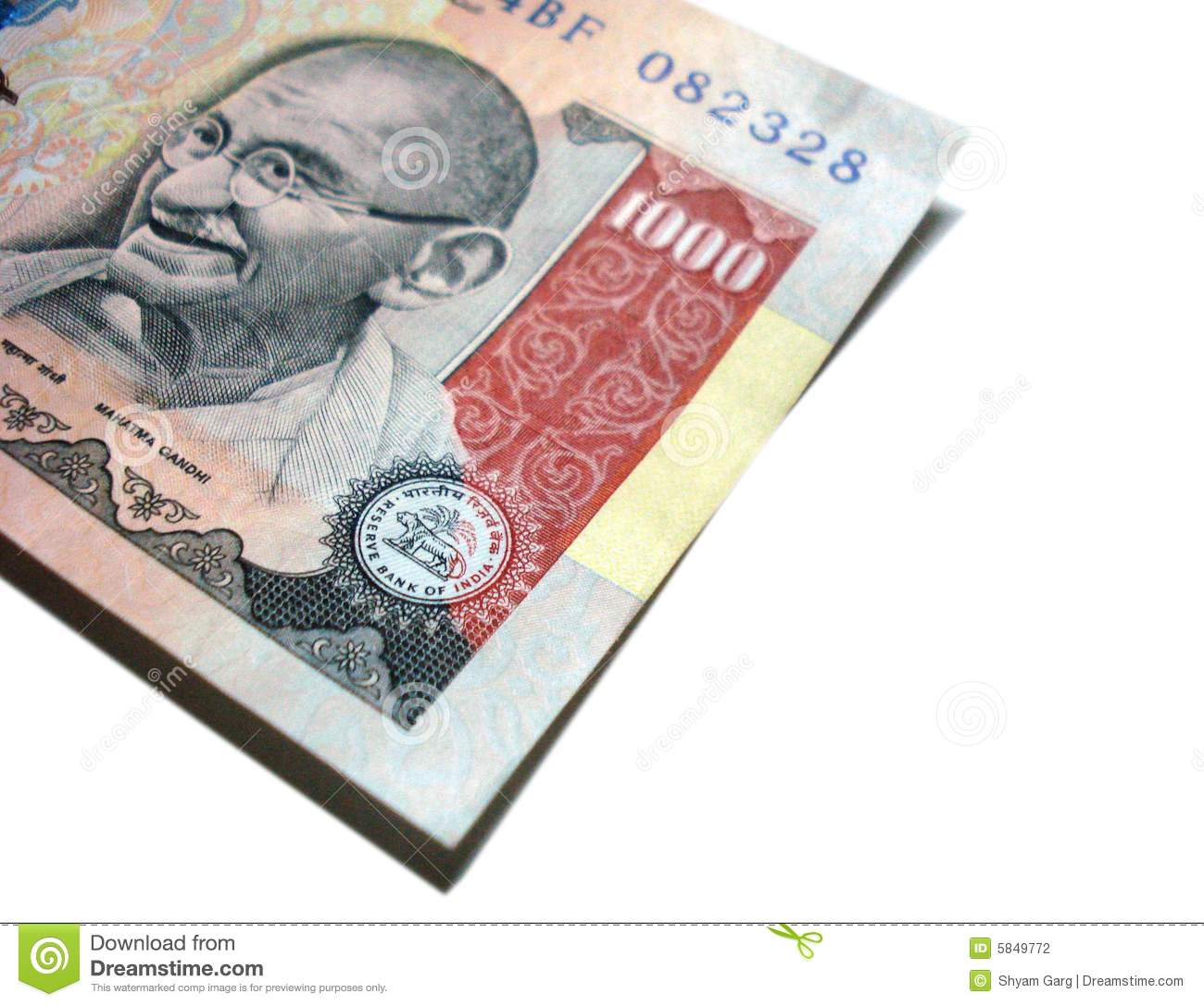Avatar 2 Budget In Indian Rupees: One Thousand Rupee Indian Note Stock Photo