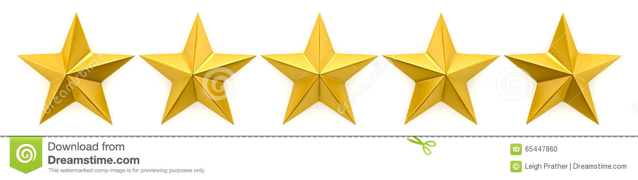 One to five star review