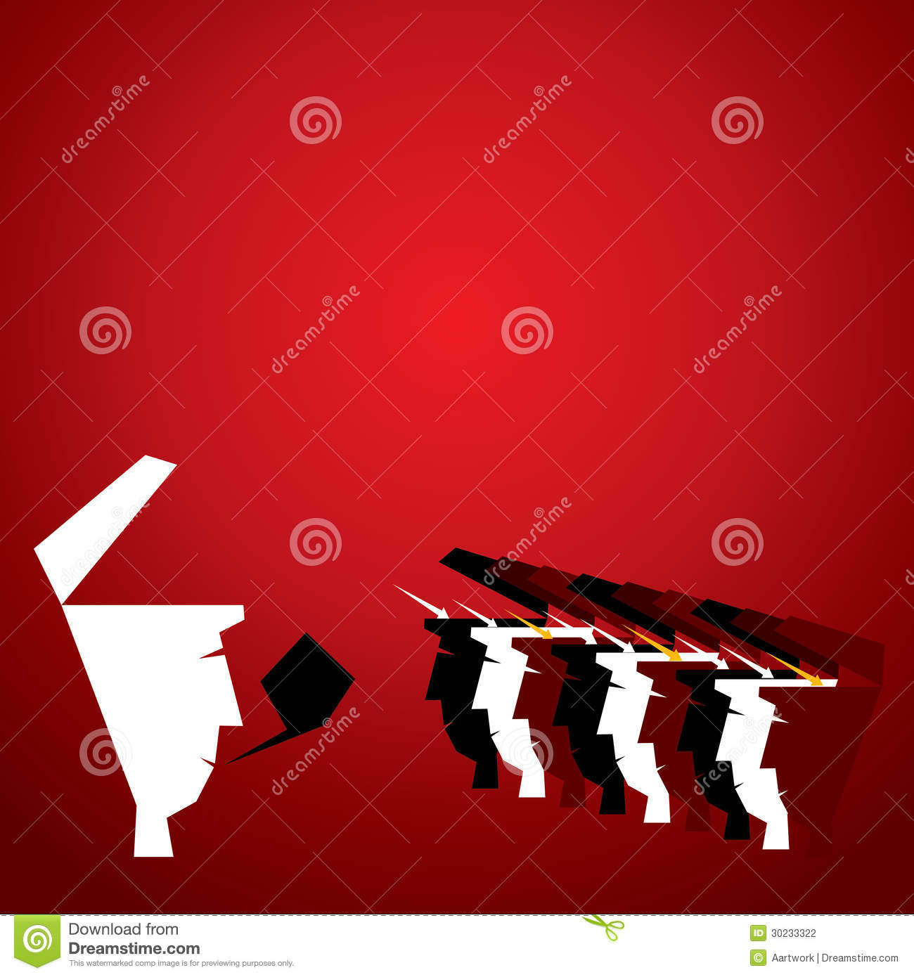 One To Many Communication Concept Stock Vector Illustration Of