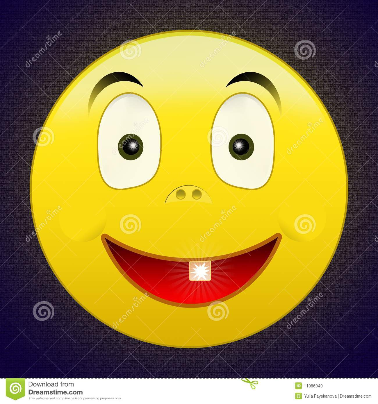 One tooth happy smile stock photo image 11086040