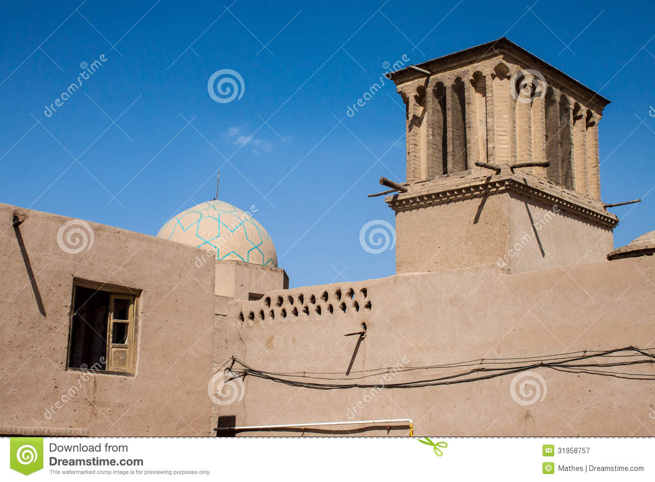 One Of Traditional Adobe Buildings Stock Image Image 38373991