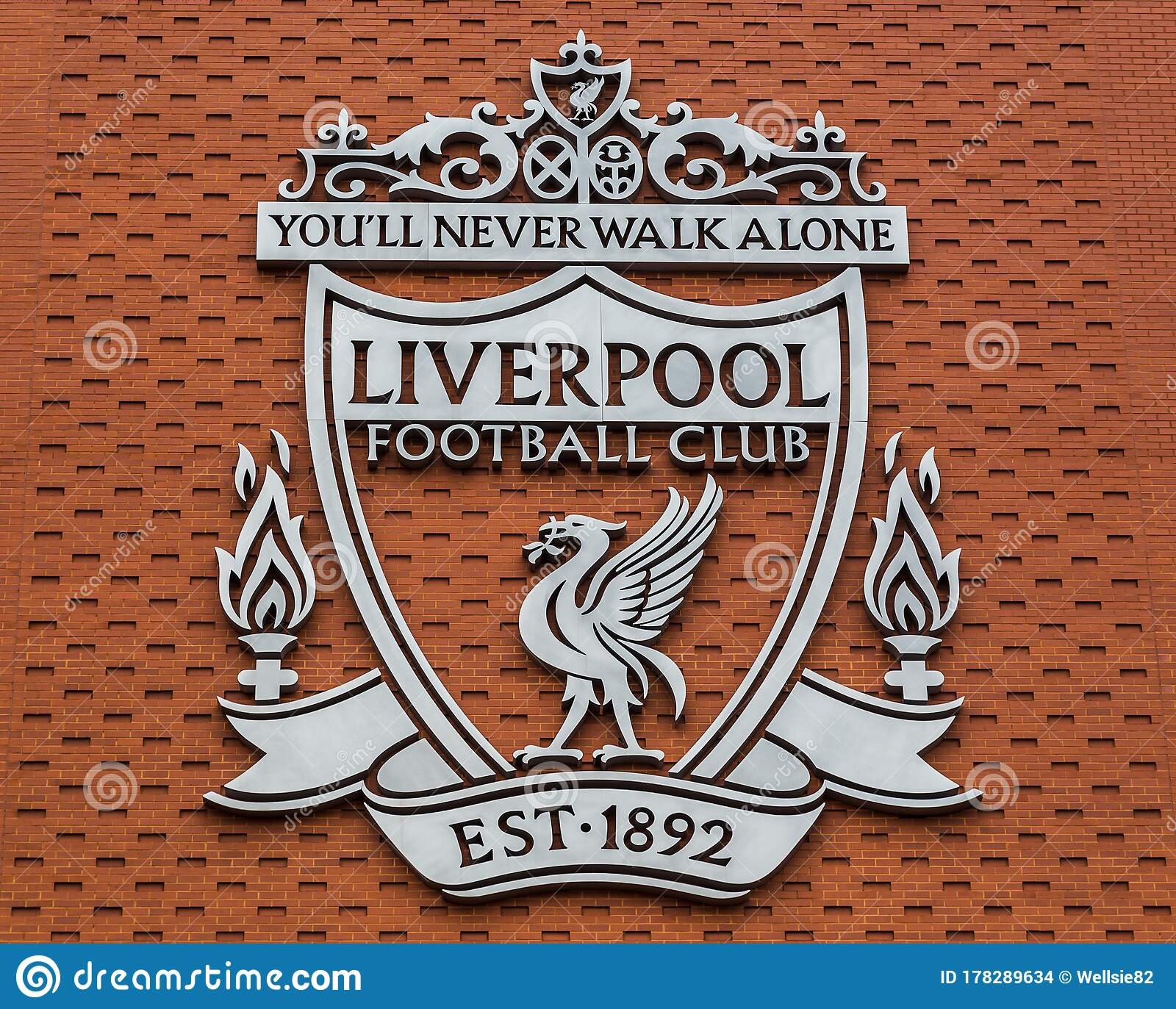 Liverpool FC club crest editorial stock image. Image of ...