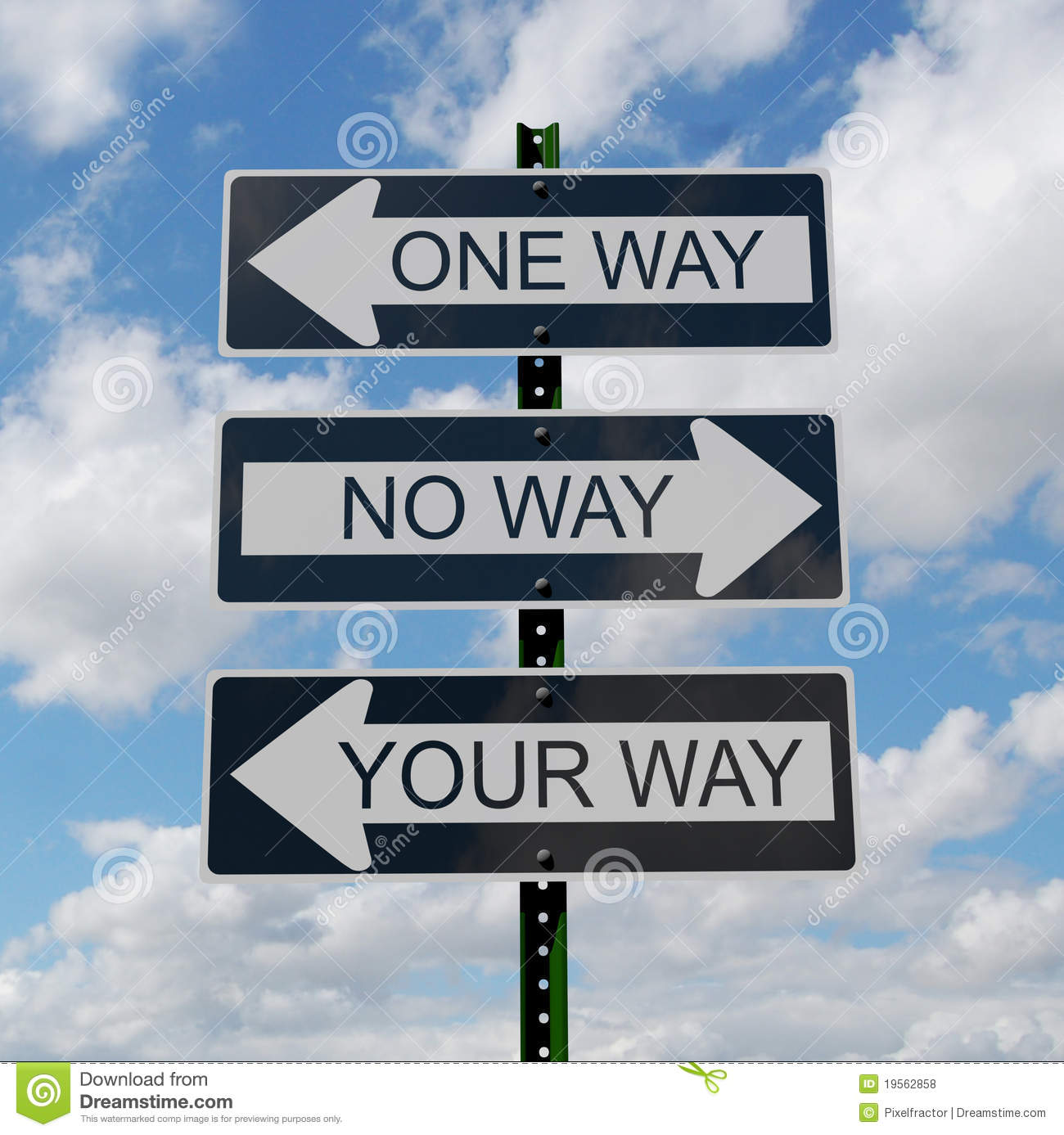 One Way Sign Royalty Free Stock Photos - Image: 19562858