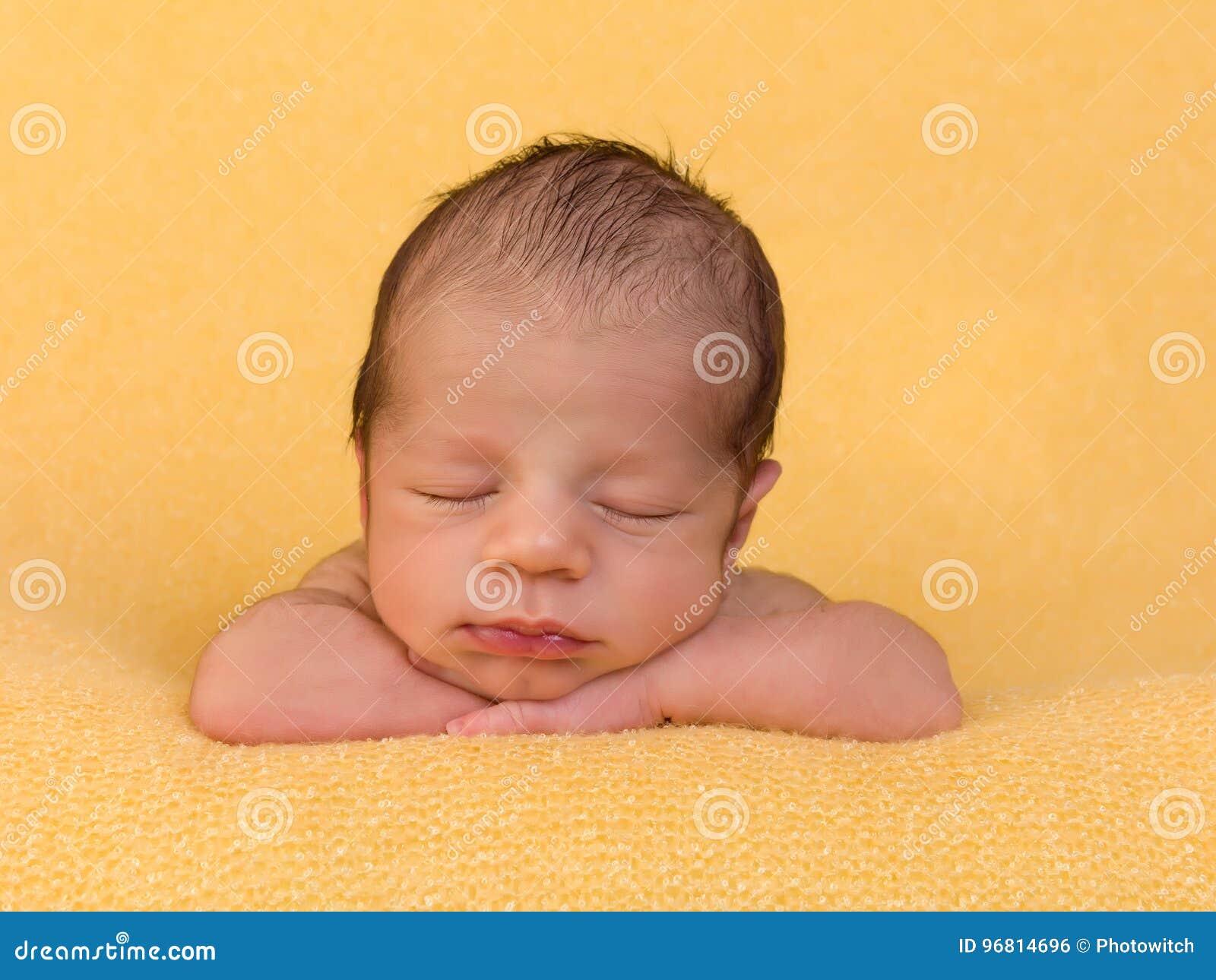 One week old baby boy