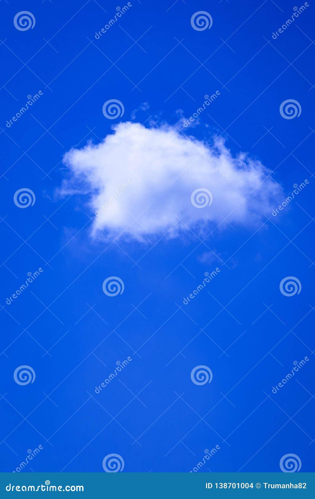 One White Cloud in Blue Sky