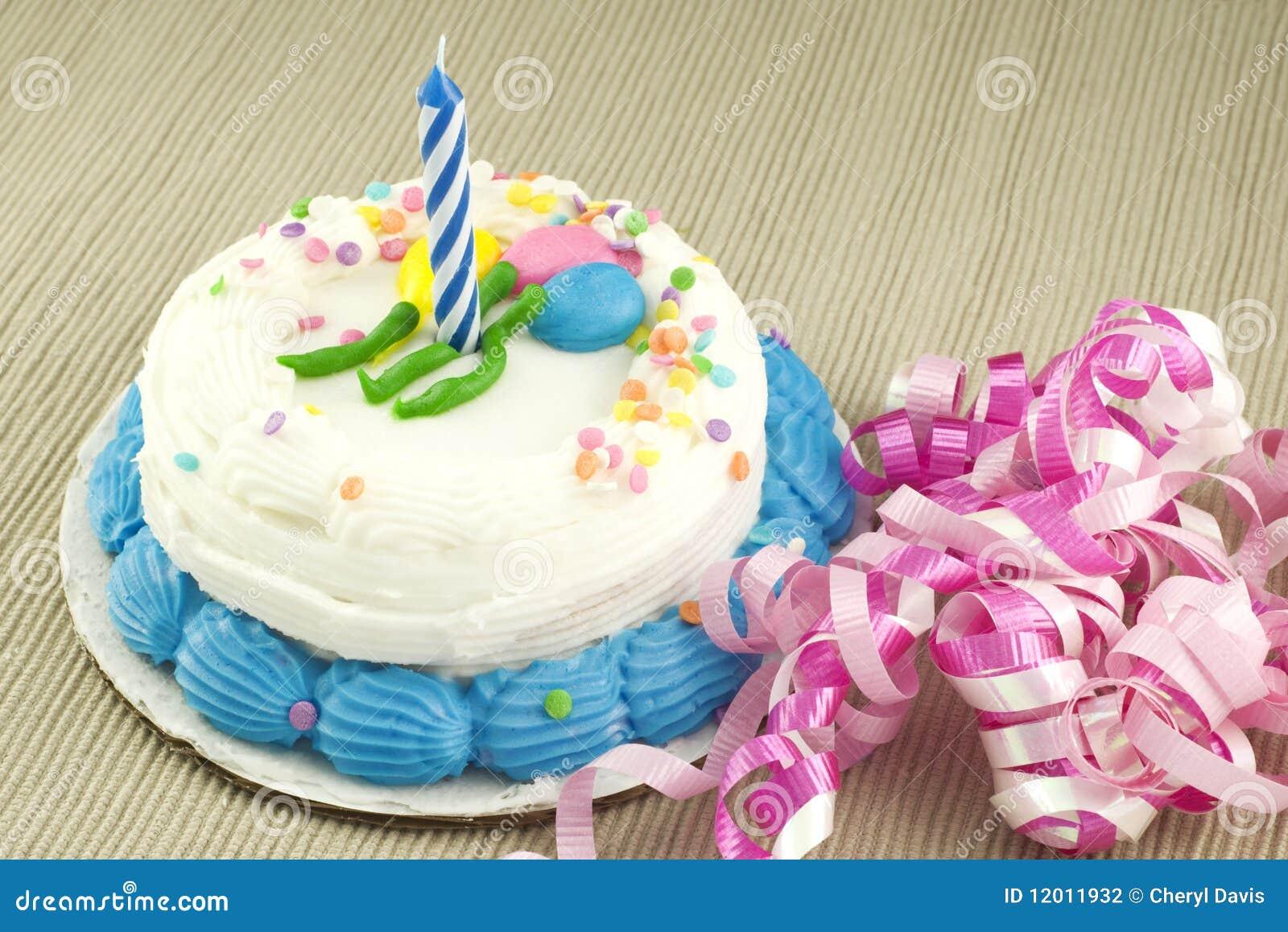 One Year Birthday Cake Stock Photo Image Of Dessert 12011932