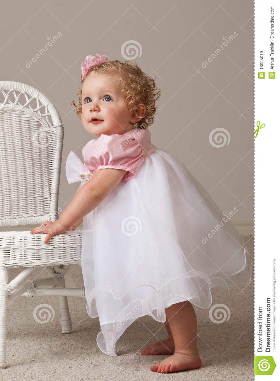 One Year Old Baby Girl Royalty Free Stock Images Image
