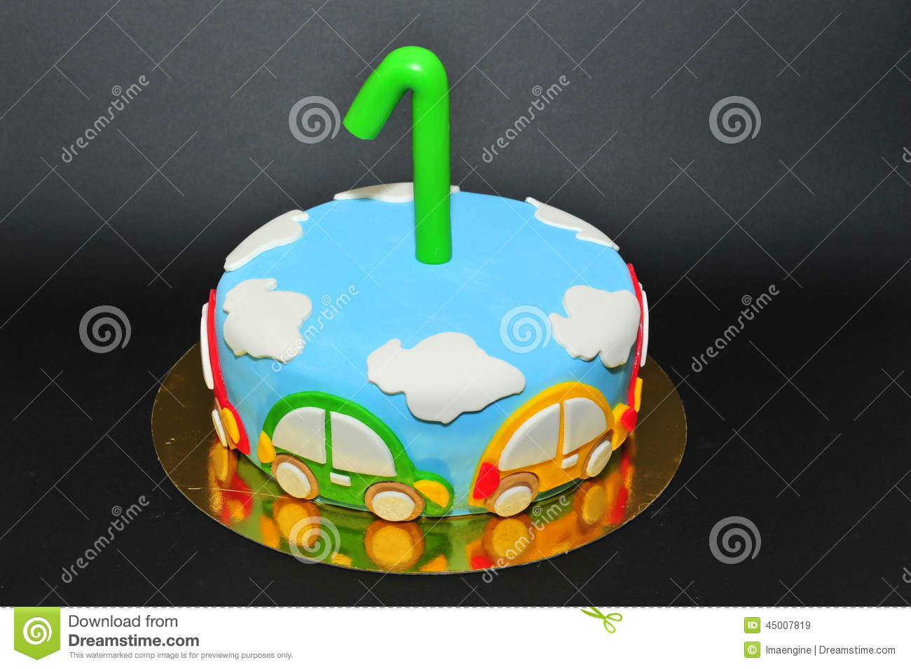 One Year Old Birhtday Celebration Cake Stock Image Image of