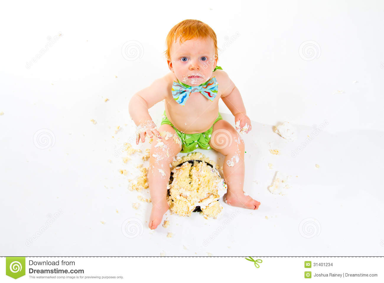 Cake Images For One Year Old Boy : One Year Old Cake Smash Stock Images - Image: 31401234