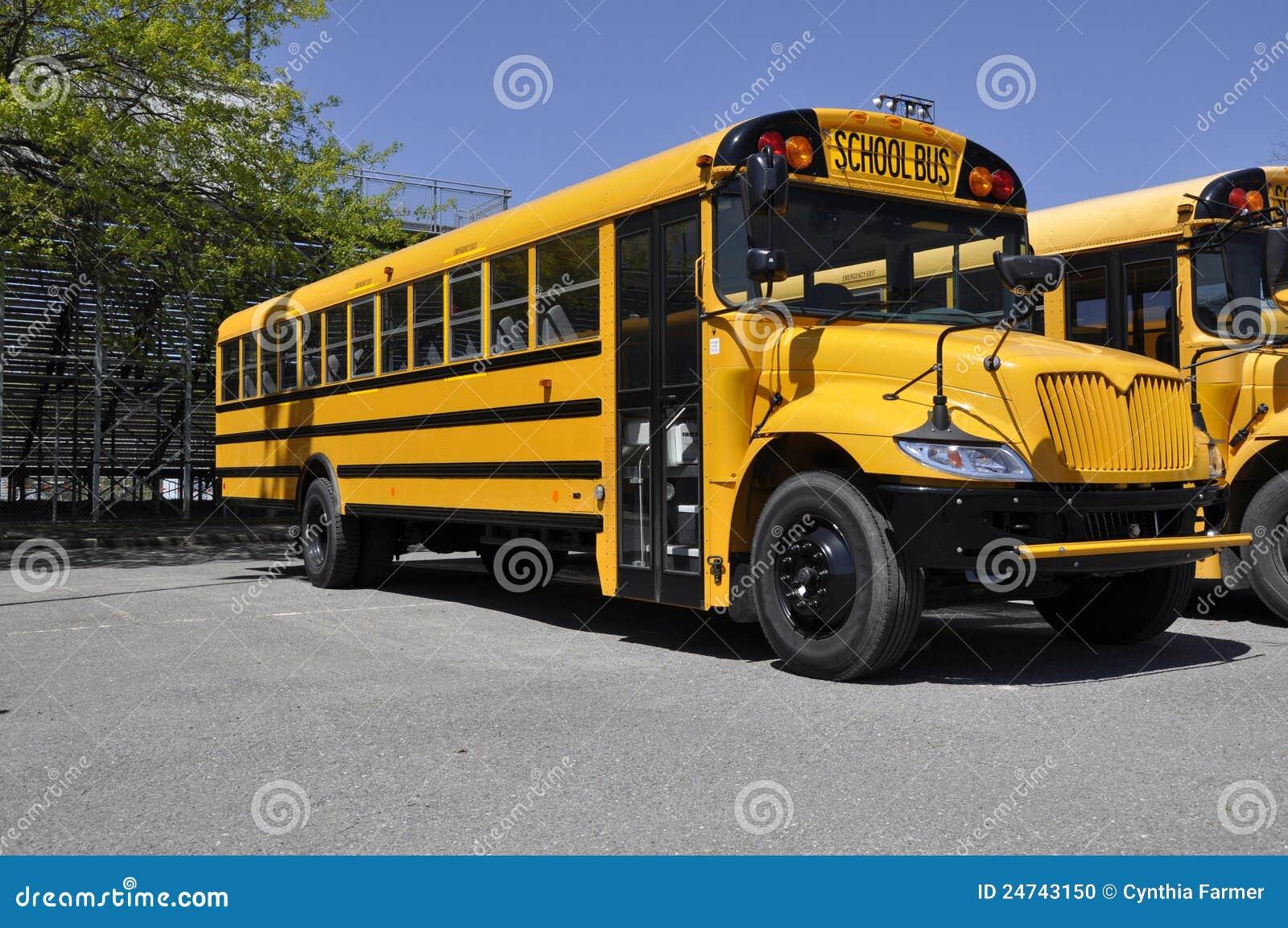 One yellow school bus