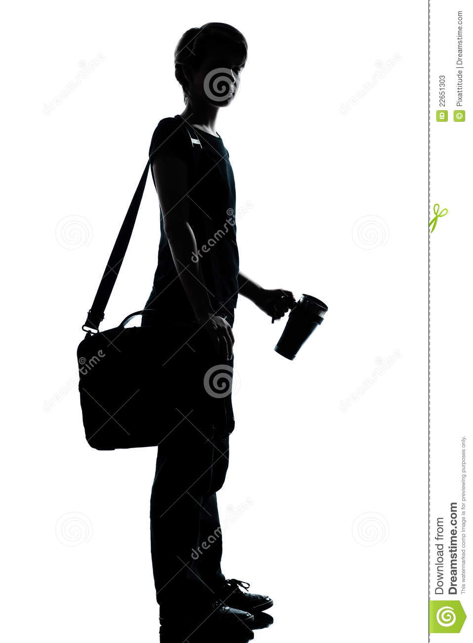 One Young Teenager Student Silhouette Stock Photos - Image ...