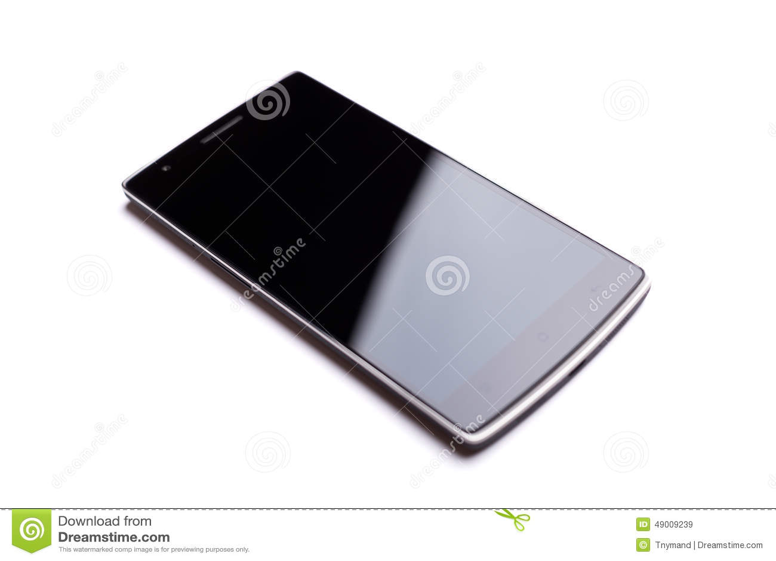 OnePlus在白色背景隔绝的一智能手机前方