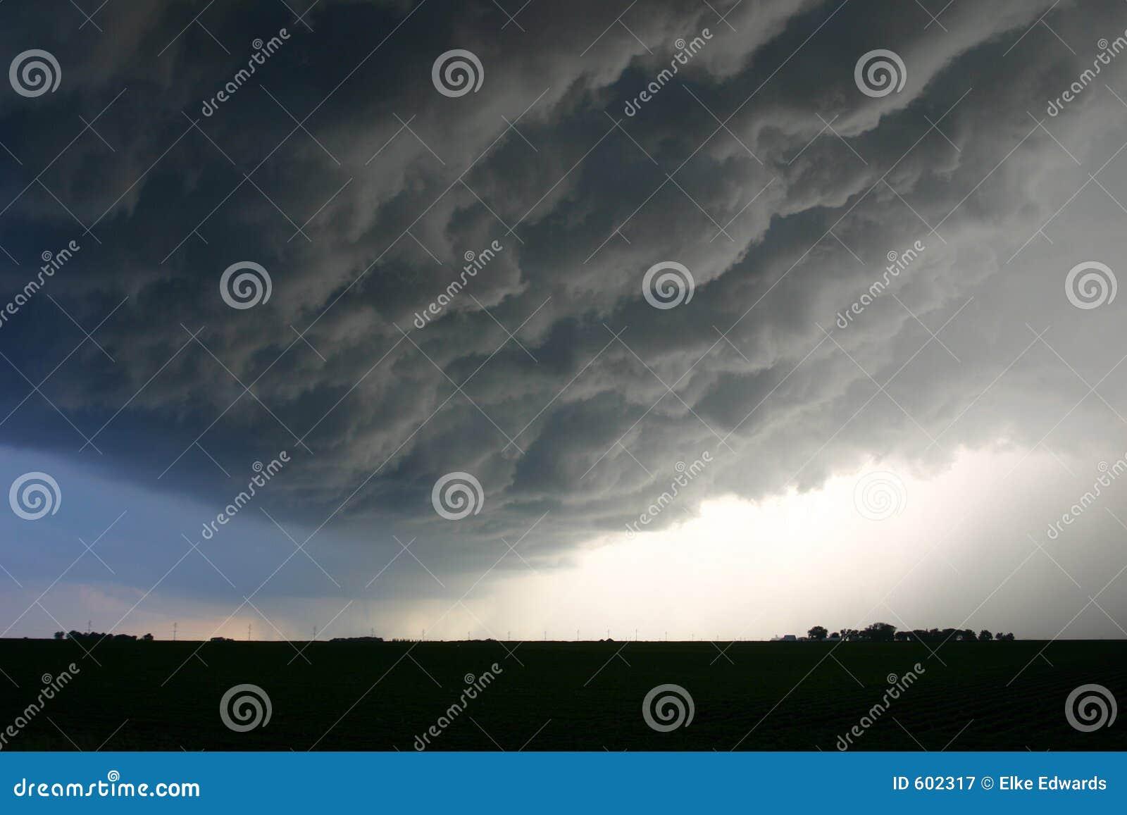 Onheilspellende Wolken