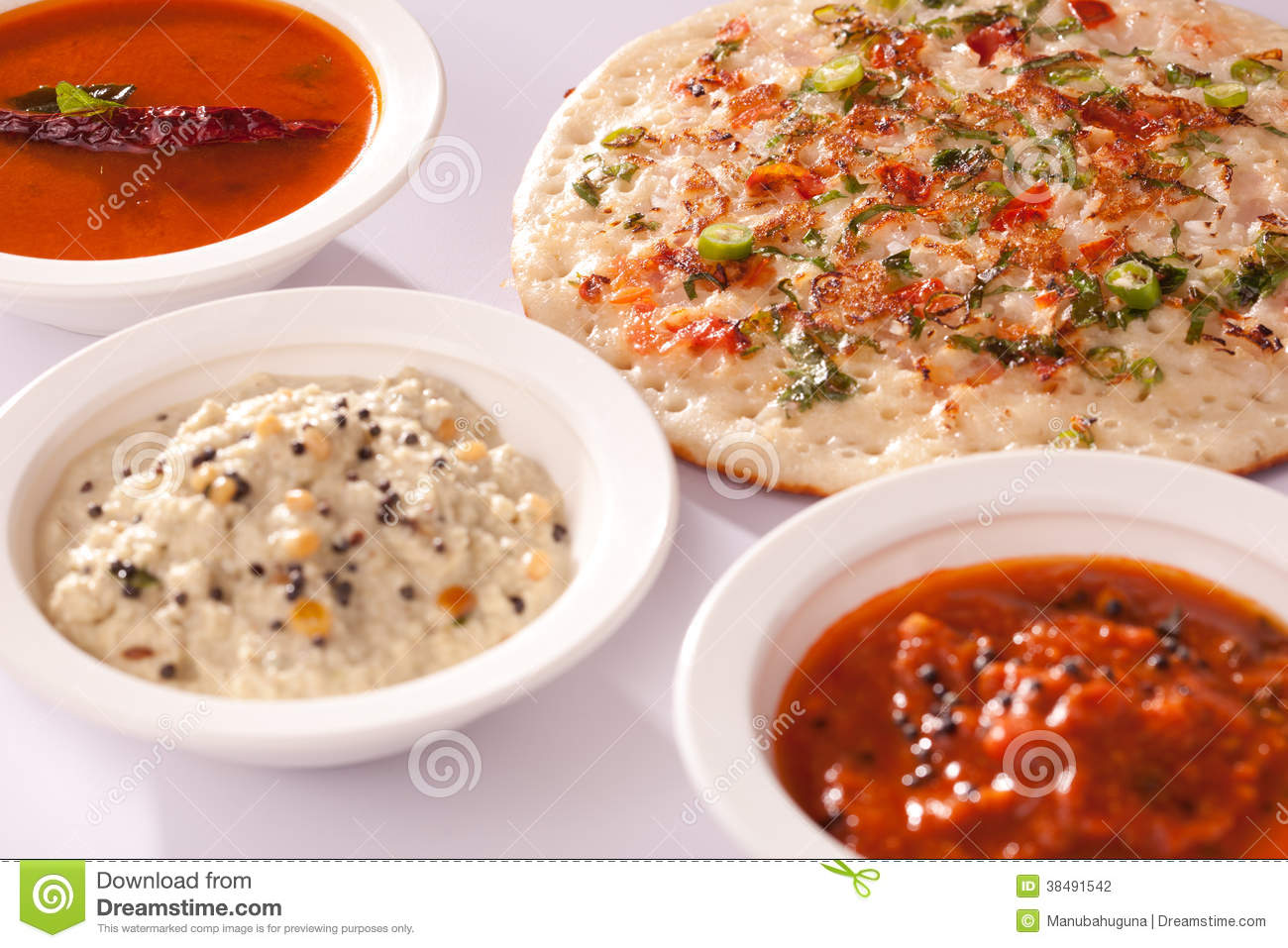 Onion Dosa Is Typically South Indian Pancake. Stock ...