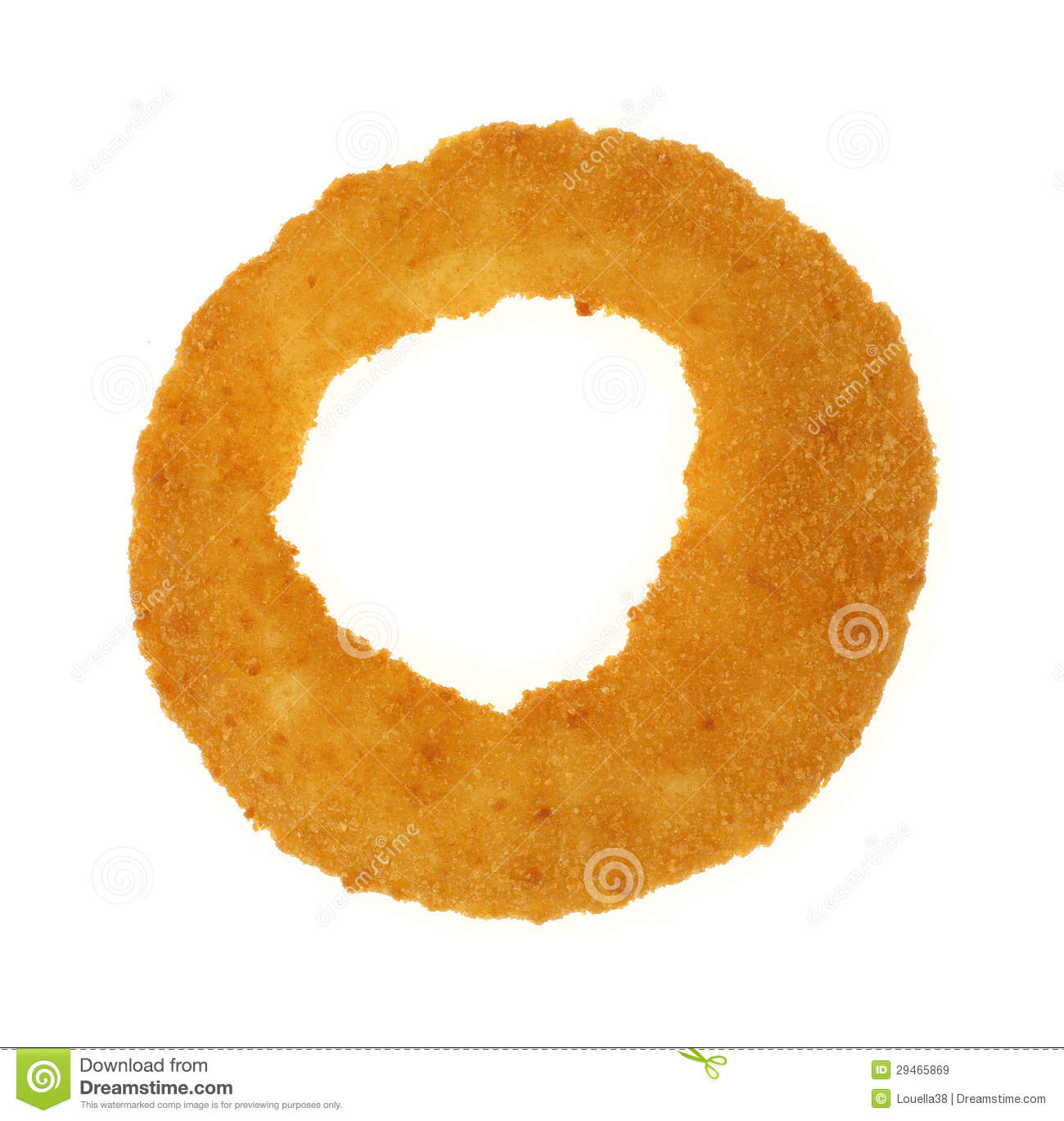 Onion Ring Single On White Royalty Free Stock Images - Image: 29465869