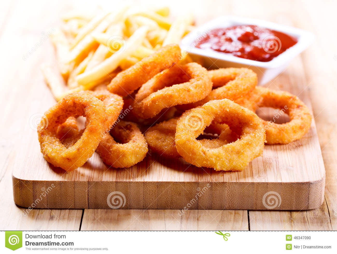Fried Ketchup Onion Potato