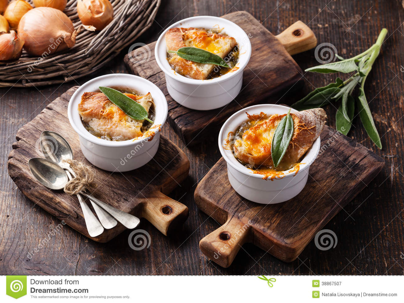 Onion Soup Stock Photo - Image: 38867507