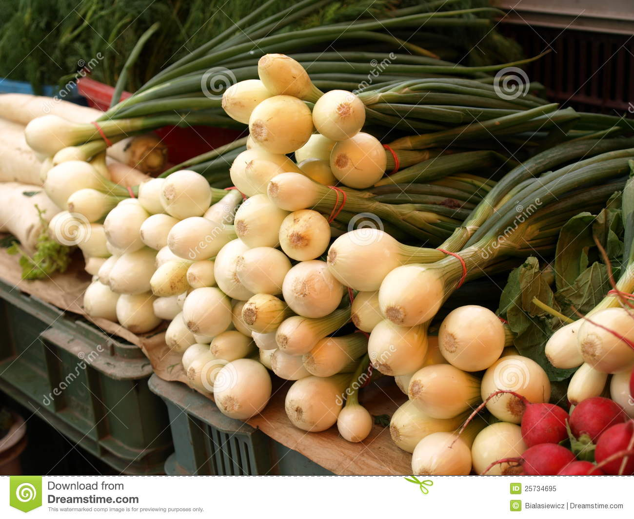 Onions from market