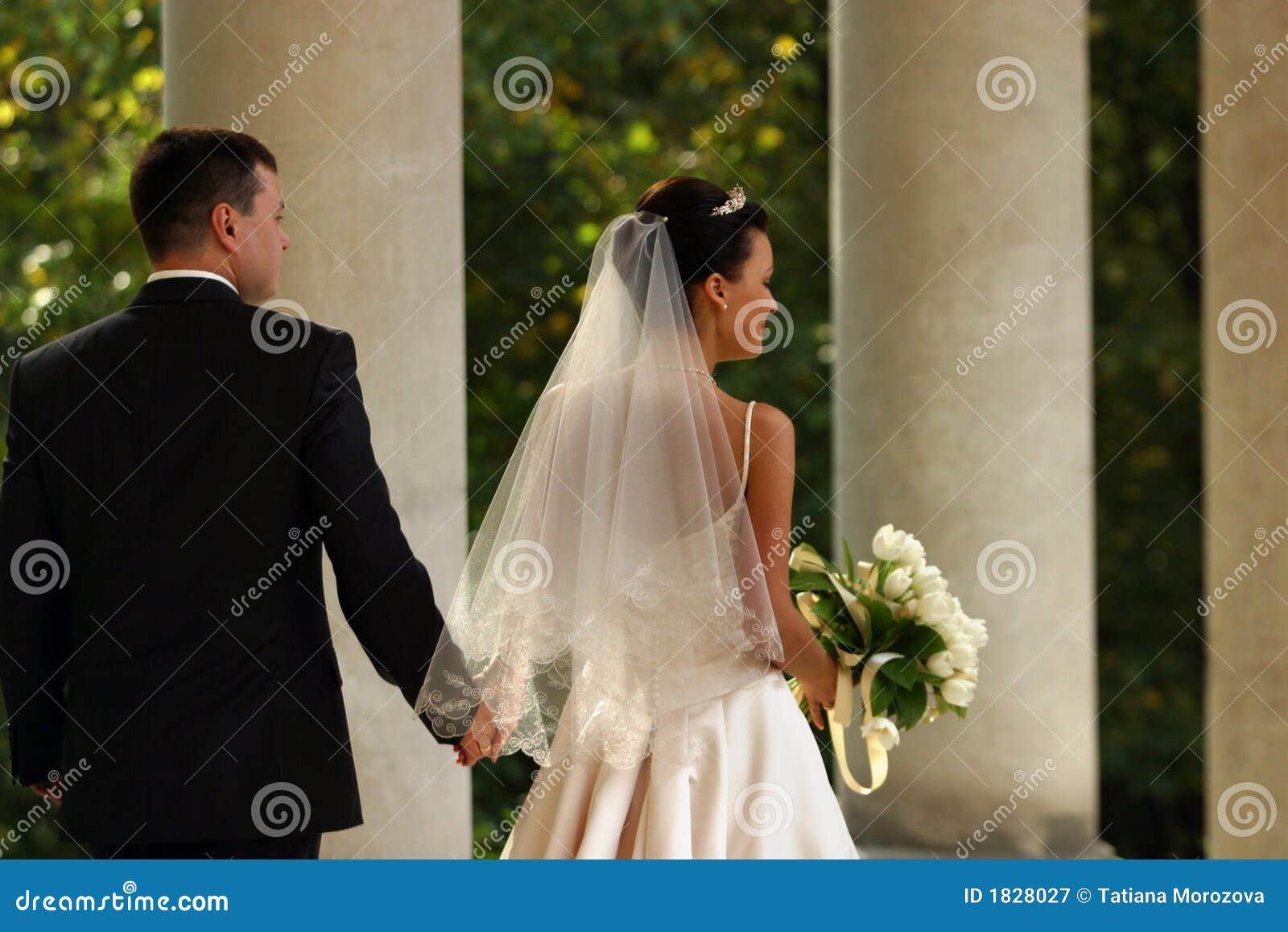 Onlangs-gehuwd paar
