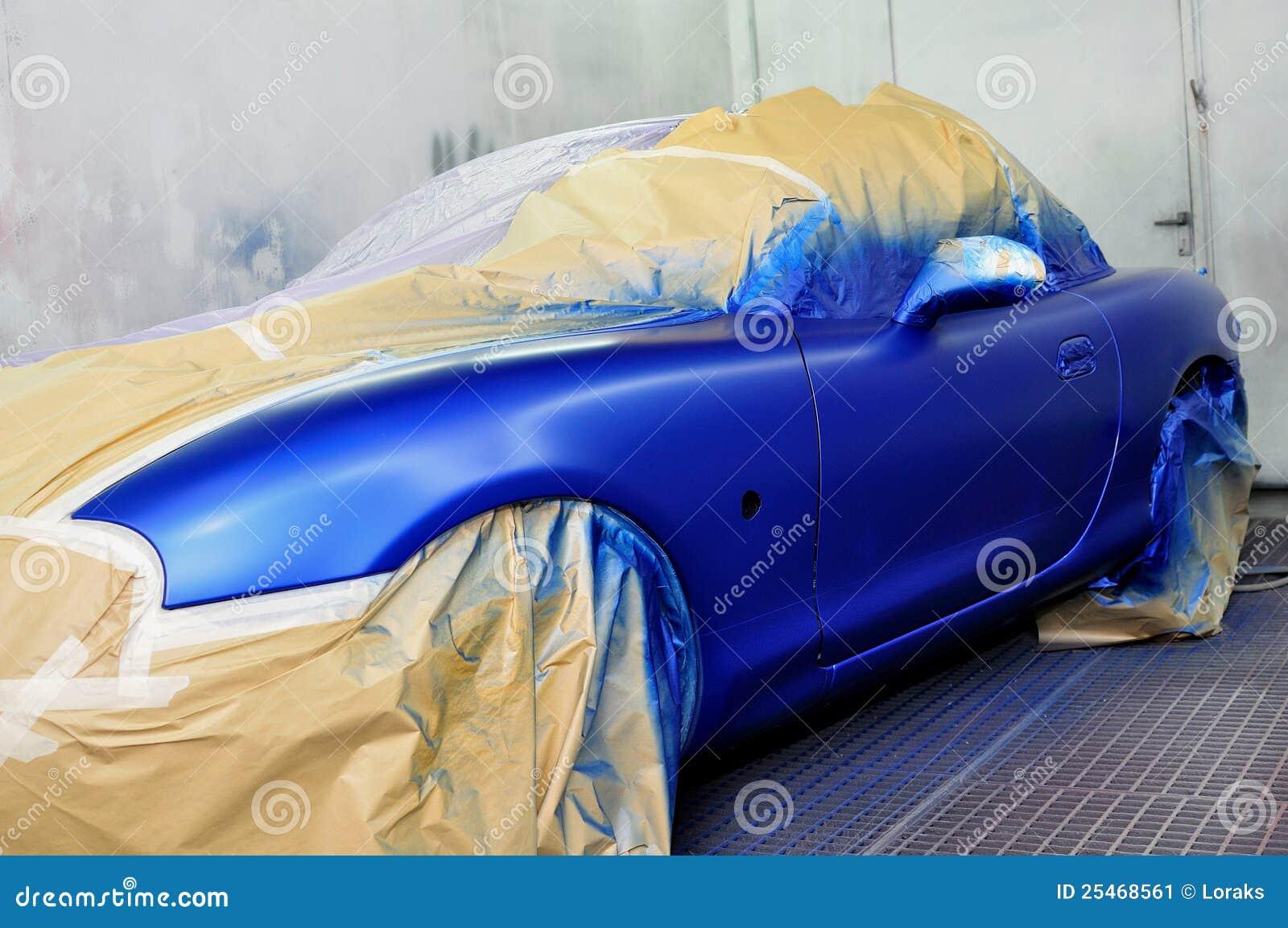 Onlangs geschilderde auto.