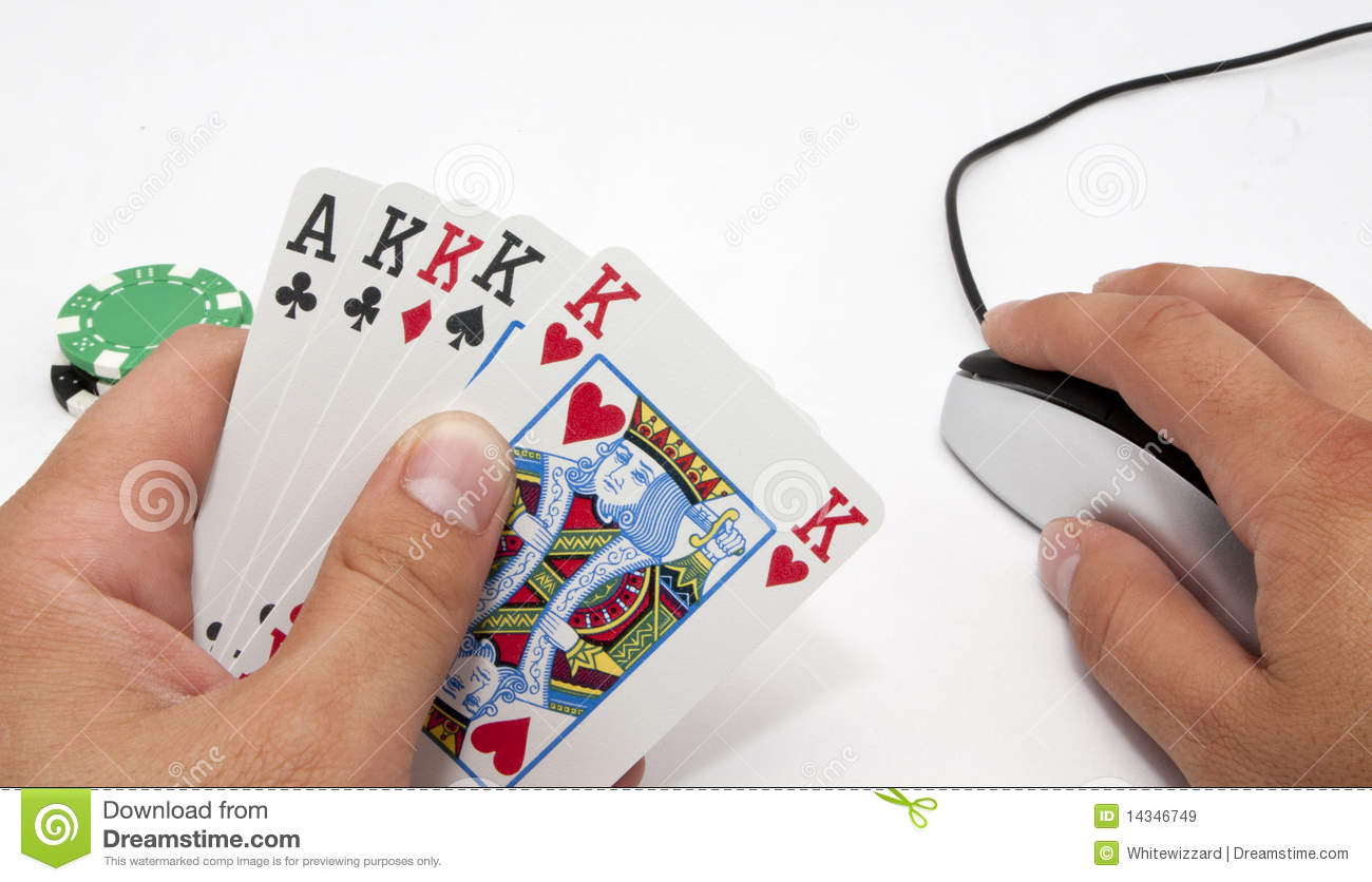 Online 5 Draw Poker Royalty Free Stock Images Image