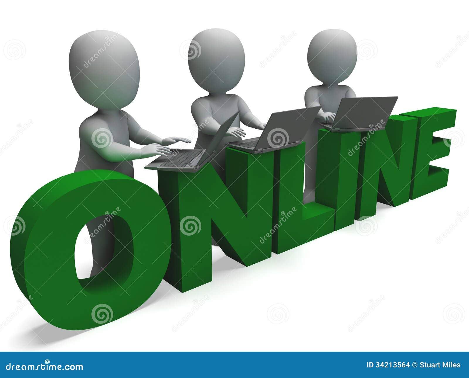 Online-anslutning visar world wide web