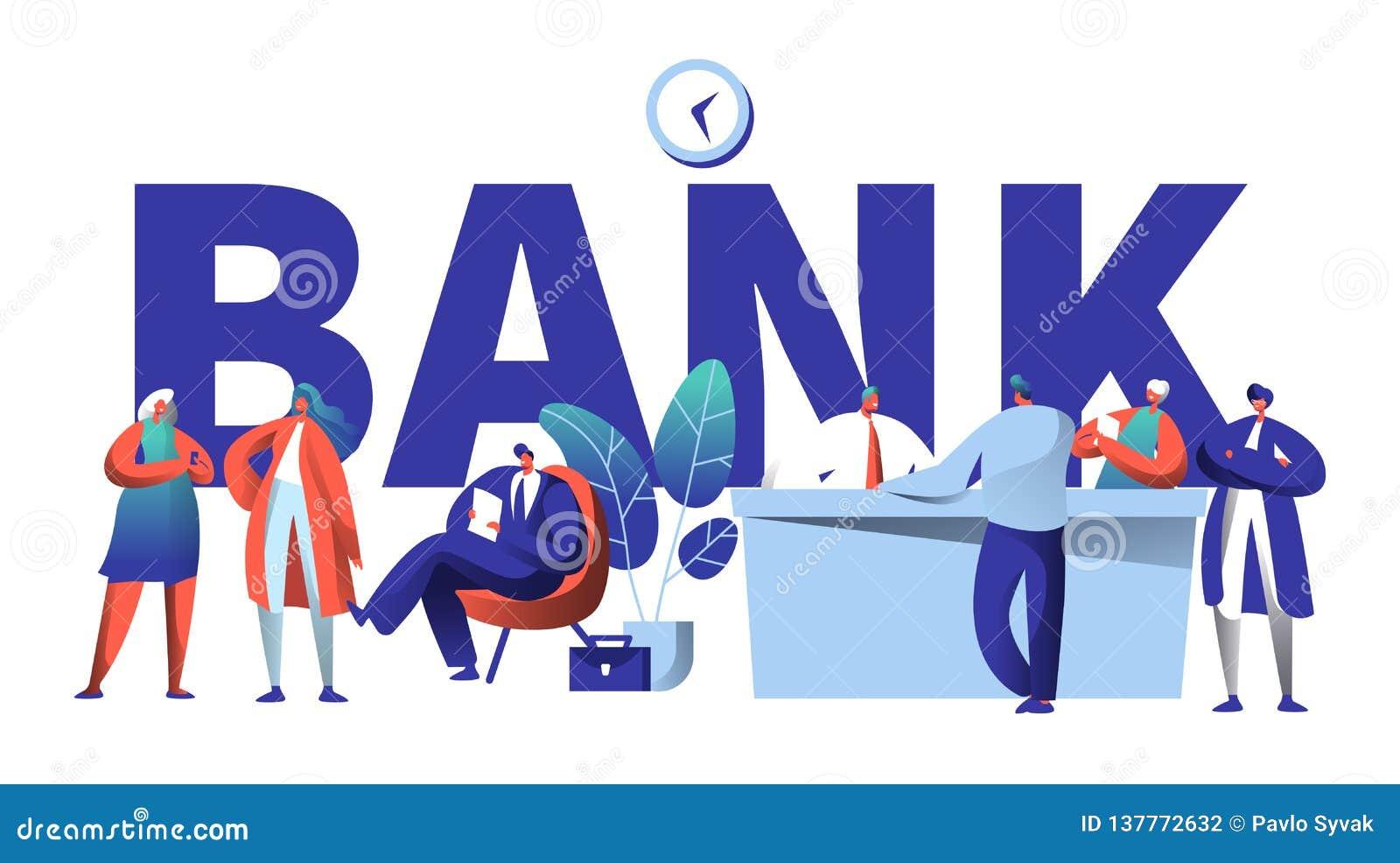 Online-baner för typografi för bankaffärstecken Säkert investeringinsättningmöte i kontor för fenaTechstart