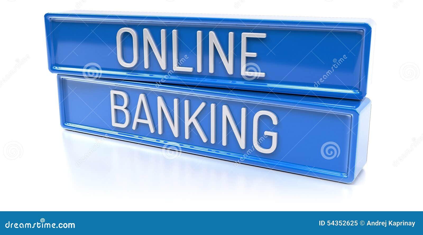 Online Banking 3d Render Stock Illustration Image