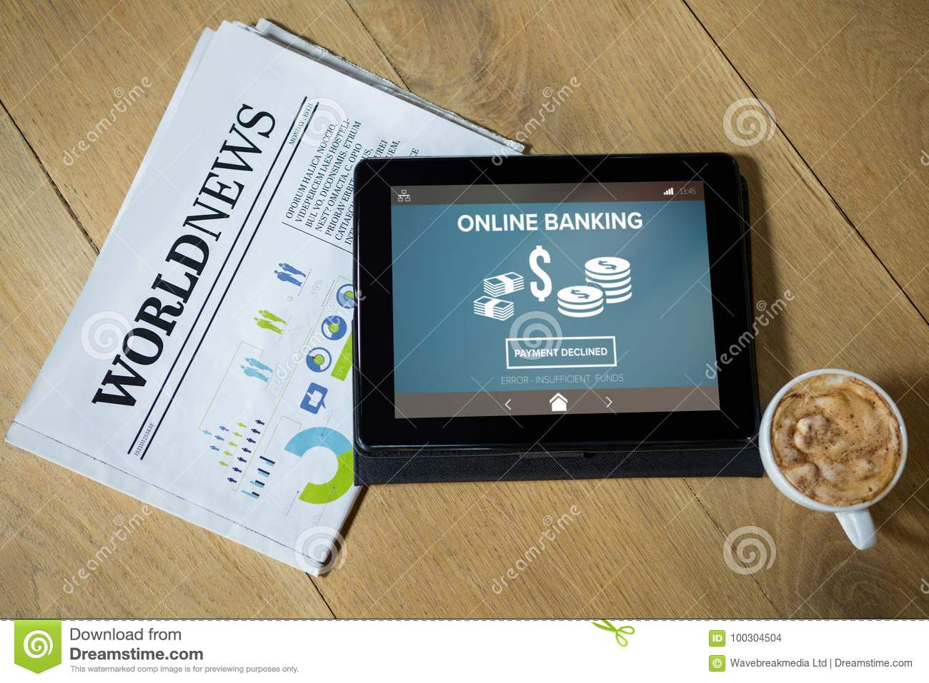 Composite Image Of Online Banking With Dollar Symbol On Phone Screen