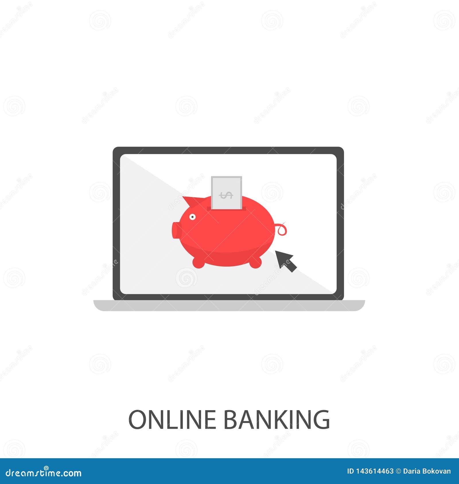 Online bankwezen vectorpictogram